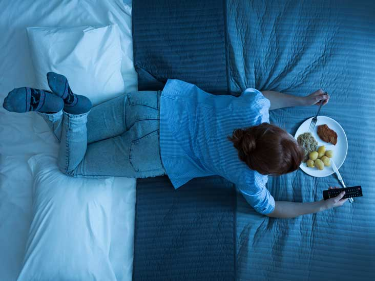 Stop eating a few hours before bed